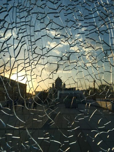 Architecture Cathedral Of Christ The Savior Church Close-up Damaged Destruction Glass Look Through Moscow No People Outdoors Place Of Worship Russia Skyline Visual Creativity