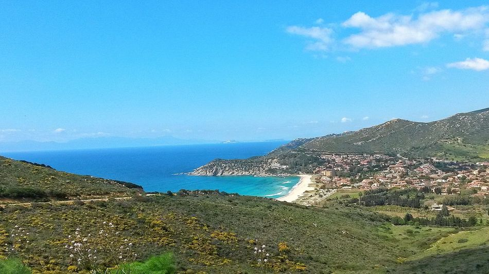 Blue Scenics Beauty In Nature Sea Nature No People Seascape Beach Sardinia Sardegna Italy  Sardinia Cagliari, Sardinia Coast Coastline