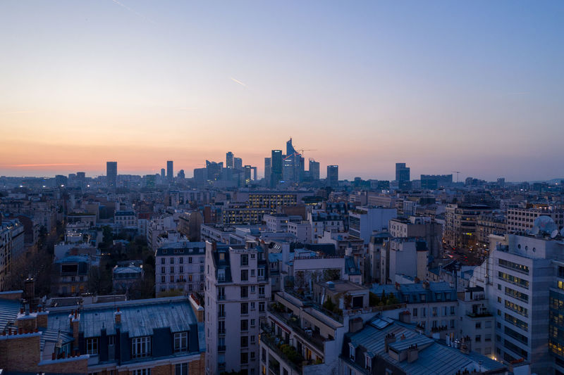 La Défense Building Exterior Built Structure Architecture Sky City Building Cityscape Residential District Crowded Office Building Exterior Nature Skyscraper Outdoors Sunset Drone  Dronephotography Aerial View Dji Louis Vuitton