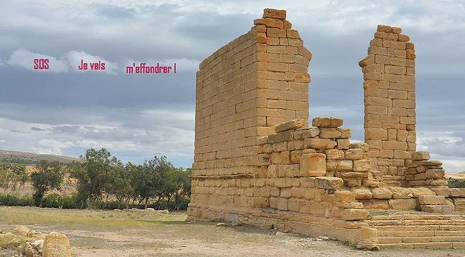 Tunisia IgersTunisia Carthagina Wikilovesmonuments Sbeitla معلم أثري مصنف ... يستغيث :) هيا ننقذه :)