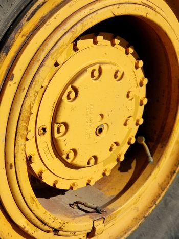yellow wheel Wheel Construction Machinery Farm Equipment Close-up No People Yellow Indoors  Day
