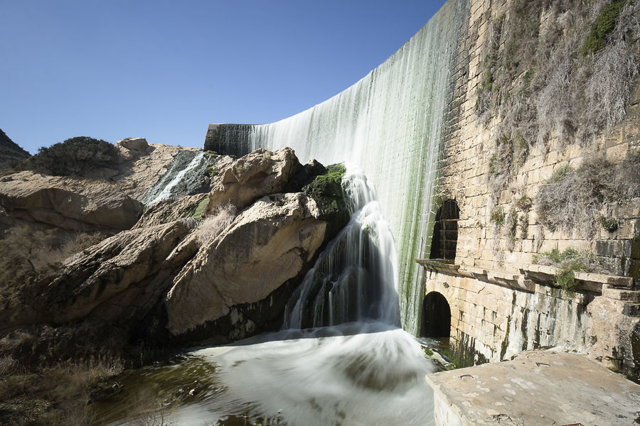 Views of the Elche swamp in winter. Province of Alicante in Spain. Agriculture Elche Scenic Swamp Vinalopo Cascade Day Irrigation Long Exposure No People Power In Nature Reservoir Rock - Object Rock Formation Waterfall