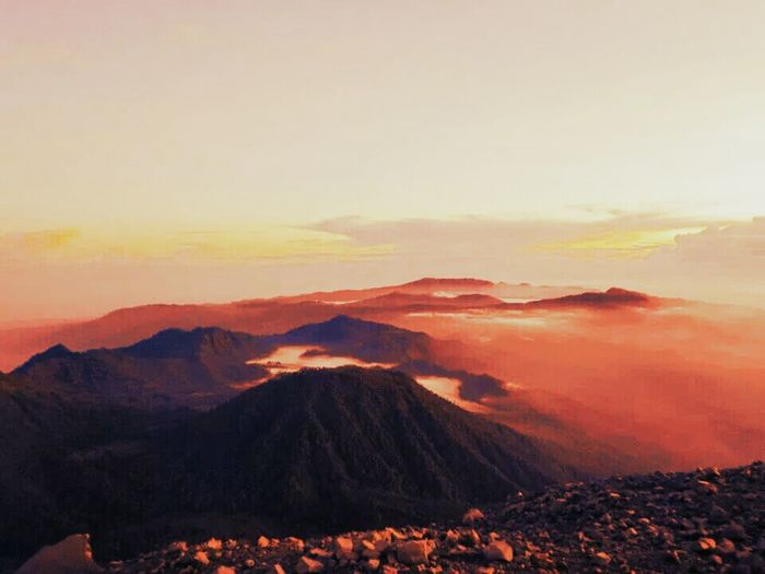 Vscocam #vsco The Explorer - 2014 EyeEm Awards Mount Semeru Sunrise And Clouds