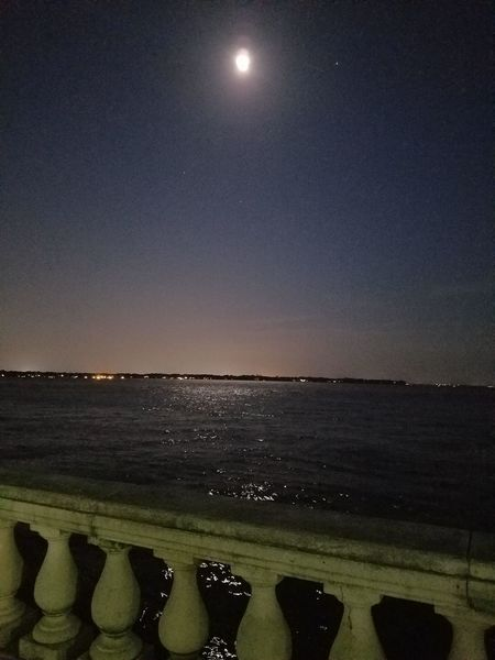 Riverside Park Riverside St Johns River Night Photography Riverbank River View Glowing Moonlight Stars Night Photography Amateur Photography Smsrtphone Photography Sky Photography Skyporn Sky Sky_collection Color Fade