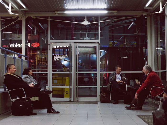Waiting For A Train Waiting Room Waiting...... Full Length Two People Adults Only Indoors  People Businessman Only Men Men Well-dressed Uniform Adult Young Adult Day