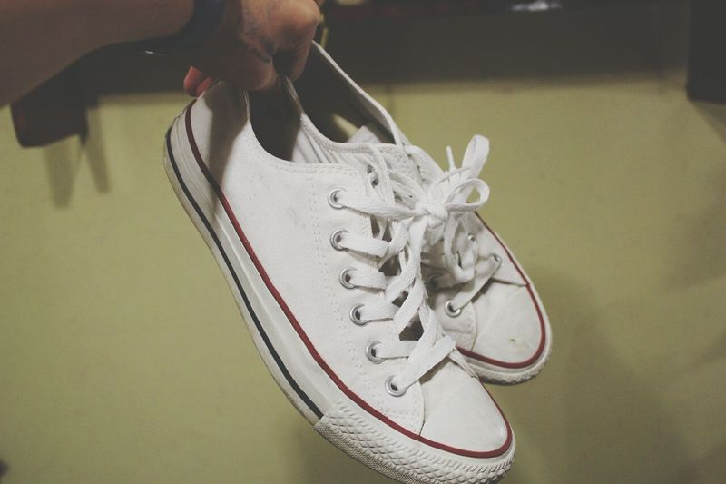 My new converse. Taking Photos