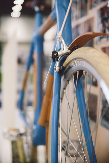 Detail shot of a bicycle