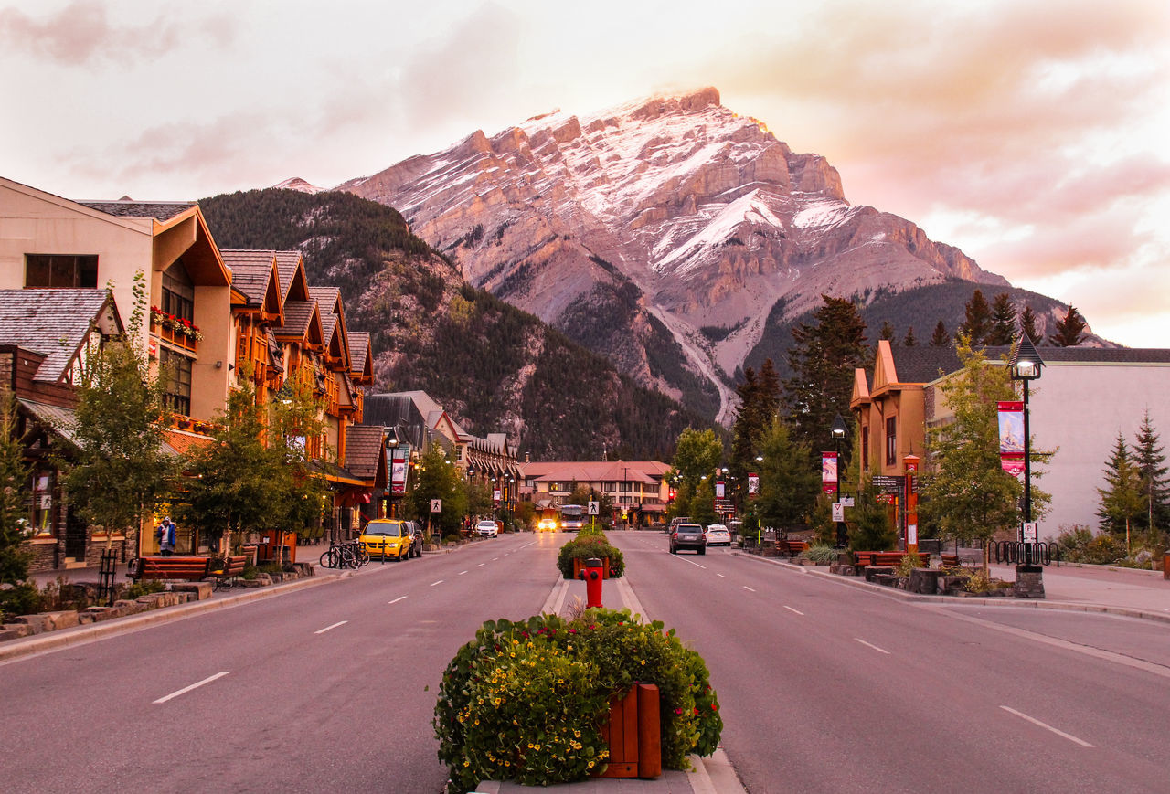 Roads Against Canadian Rockies