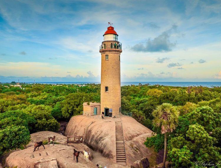 Lighthouse Rock Historical Old Lighthouse Chennai India Scenery Landscape Sky The Great Outdoors - 2015 EyeEm Awards