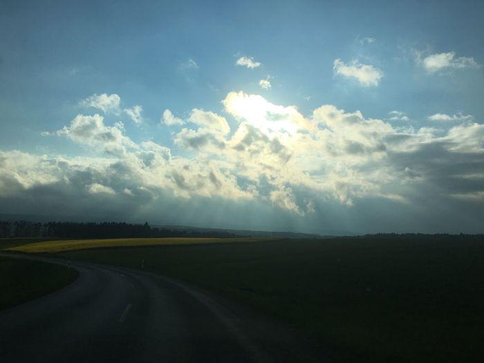 Sonnenuntergang im Schwarzwald Sky Landscape Cloud - Sky Scenics Nature Road Tranquility Field Outdoors EyeEm Gallery Germany Photos Official EyeEm © EyeEm Best Edits EyeEm Best Shots Abendlicht