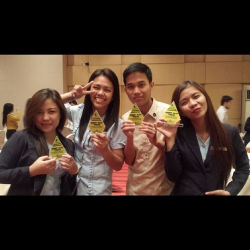 """Best OJT Team"" Landbank of the Philippines, Recto branch. Unexpected FeelingProud 4thpracticumculminationnight 22114"