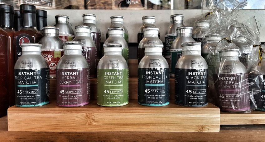 Instant Matcha Teas Matcha Matcha Tea Instant Green Harvest Bar 10th Ave Tea Tropical Berry Herbal Shaker Aworldofgood Harvest Superfood Agave Honey Hot Or Cold Indoors  Text Variation No People Large Group Of Objects Abundance Day
