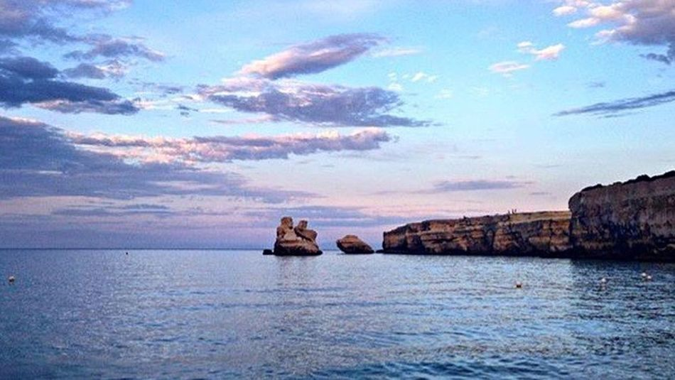 Sea Water Nature Sky No People Tranquil Scene Outdoors Cloud - Sky Sunset Stones & Water Puglia Photography Holiday Horizon Over Water First Eyeem Photo Beauty In Nature Leaves🌿 Intothewild Paradise Collaboration First Eyeem Photo