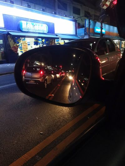 Retrovisor Mobifiat Fiat Car Transportation Motor Vehicle Mode Of Transportation Illuminated Land Vehicle Night Indoors  Car Interior City Road Sign Vehicle Interior Car Point Of View Glass - Material Communication Windshield Street No People Architecture