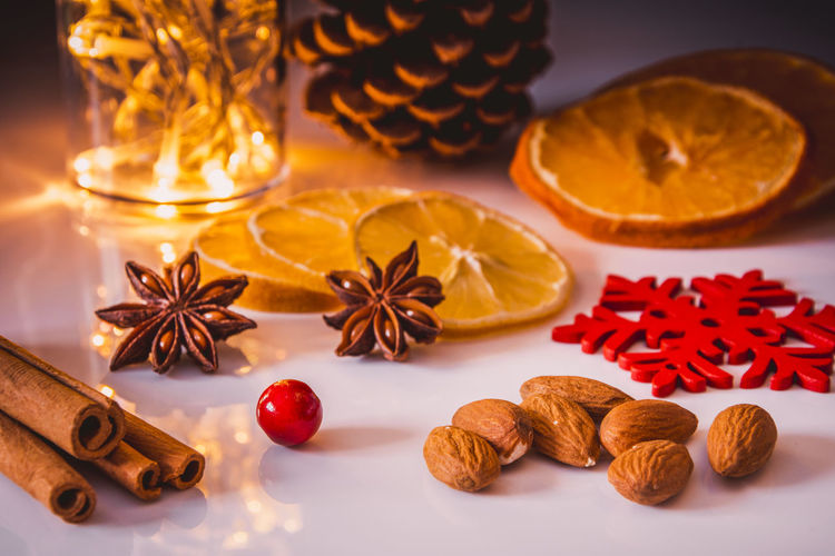 Christmas Cinnamon Citrus Fruit Star Anise Dried Fruit Orange - Fruit Anise Christmas Ornament Christmas Lights Christmas Market Christmastime Christmas Time Christmas Eve Christmas Is Coming Christmas Decoration Christmas Warsaw Poland Warszawa  Winter Ready-to-eat No People Large Group Of Objects