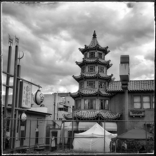 Light And Shadow Streetphotography Documentary Photography Black And White Blackandwhite Fujifilm Fujifilm_xseries Fujix100f Photo444 Year Of The Pig Lunar New Year Architecture Built Structure Building Exterior Sky Cloud - Sky Transfer Print Building