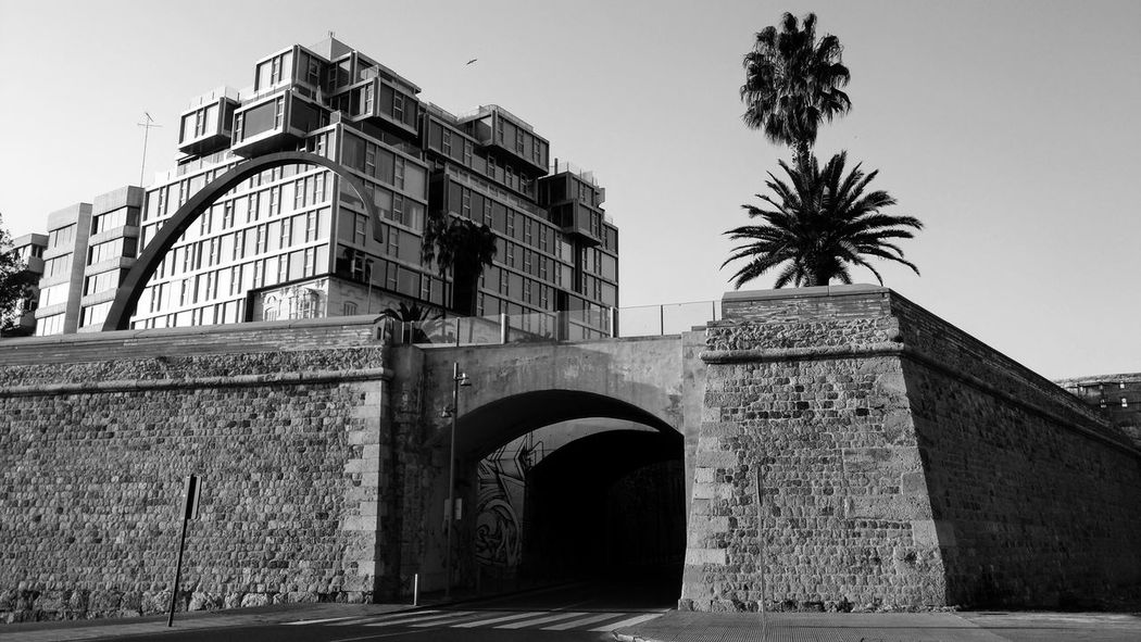 Calle Gisbert Bridge Cartagena Spaın Architecture City Wall City Walls Wall Stone Wall Historical Building History Architecture Travel Destinations Outdoors City Built Structure Military No People Mediterranean  Black And White Photography Black & White Bw Bw_collection Bw_lover Arch Blackandwhite