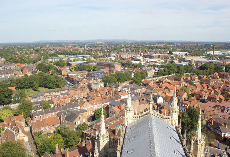 Cityscape Seen From York Minster