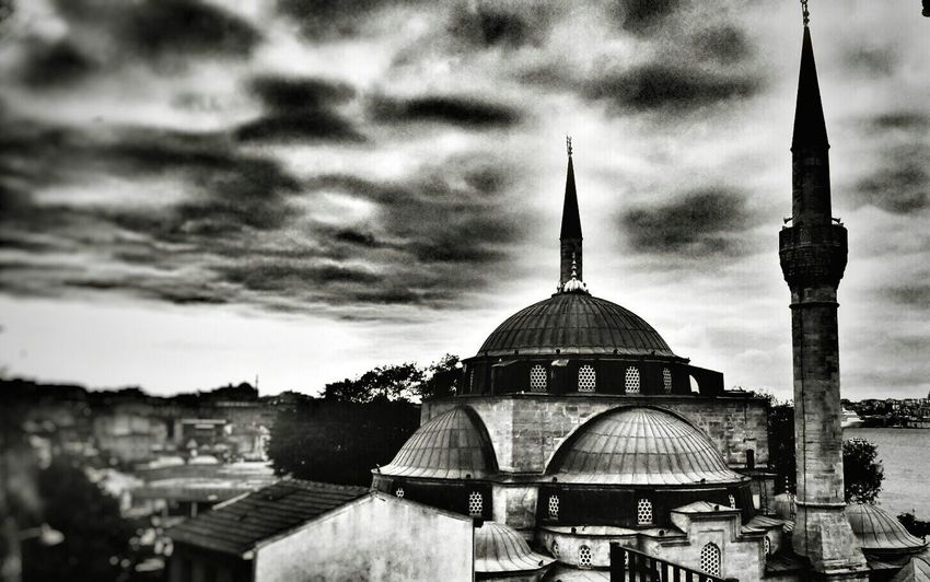 #muslim #Mosque #photography #blackandwhite Dome Architecture Sky Cloud - Sky No People Outdoors Built Structure