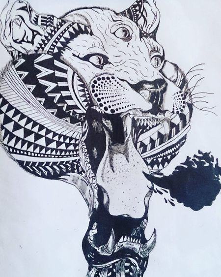 Draw Drawingoftheday Drawing Drawings Picture Pic Picoftheday ArtWork Art Arts Artistic Artist Artistsoninstagram Artists Lion Black &white Black White Tiger