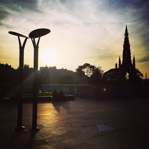 A silhouetted view of Edinburgh Castle and the Scott Monument from Waverley Station, Edinburgh Silhouette Edinburgh Castle Scott Monument Scotland Edinburgh Sunset Sunset_collection Winter Calm Edinburgh Waverley Outdoors Architecture Sky Quiet Places Open Space