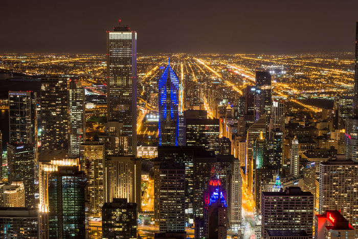 """""""Endless lights"""" Rivers of light can be seen right after the blue hour at the John Hancock Center observation deck, Illinois, USA. Chicago Chicago Skyline Cityscape Nocturne Travel Architecture Building Exterior Car Trails City City Life City Lights Cityscape Downtown District Dusk Illuminated Landscape Modern Night No People Outdoors Sky Skyscraper Travel Destinations Urban Skyline"""