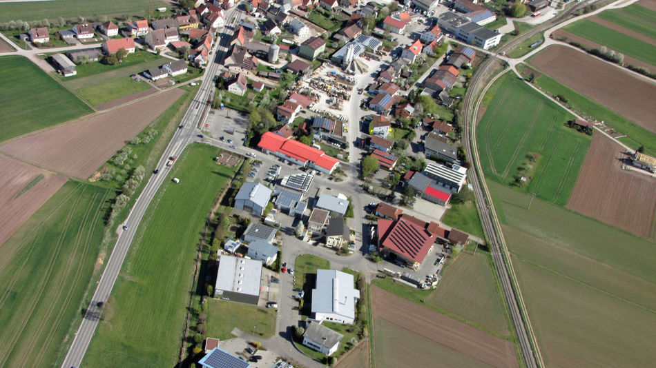 Aerial View Agrarian Built Structure Day Germany High Angle View Houses Neighbourhood No People Outdoors Residential District Streets Village