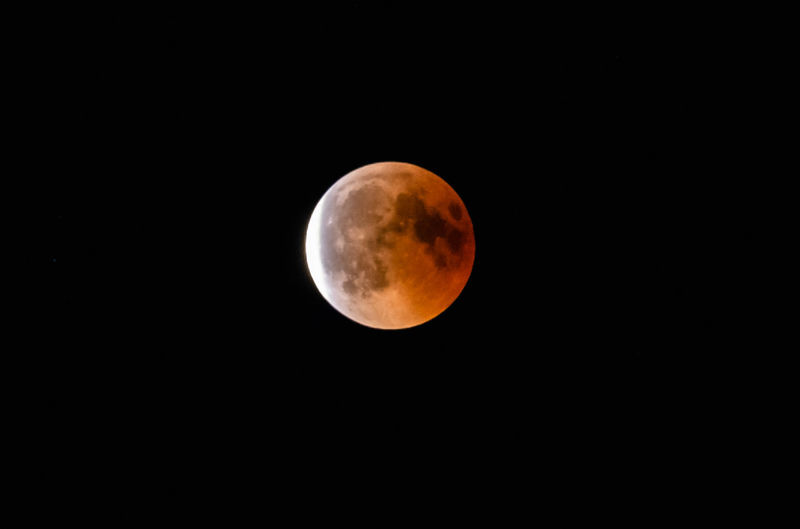 Astronomy Beauty In Nature Blood Moon Blood Moon Eclipse 2018 Circle Clear Sky Copy Space Eclipse Full Moon Geometric Shape Idyllic Moon Nature Night No People Orange Color Outdoors Planetary Moon Scenics - Nature Shape Sky Space Space And Astronomy Tranquil Scene Tranquility