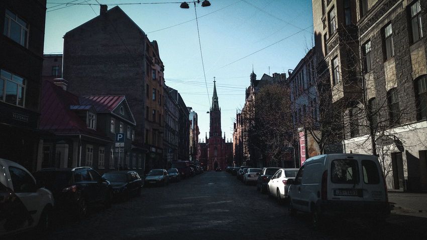 Riga Latvia Photography Architecture Old Old Buildings Castle Jugendstil Architecture Jugendstil Pattern Symetry City City Cityscape Politics And Government Clock Clock Face City Street Sky Architecture Building Exterior Vehicle Road Marking Empty Road Adventures In The City