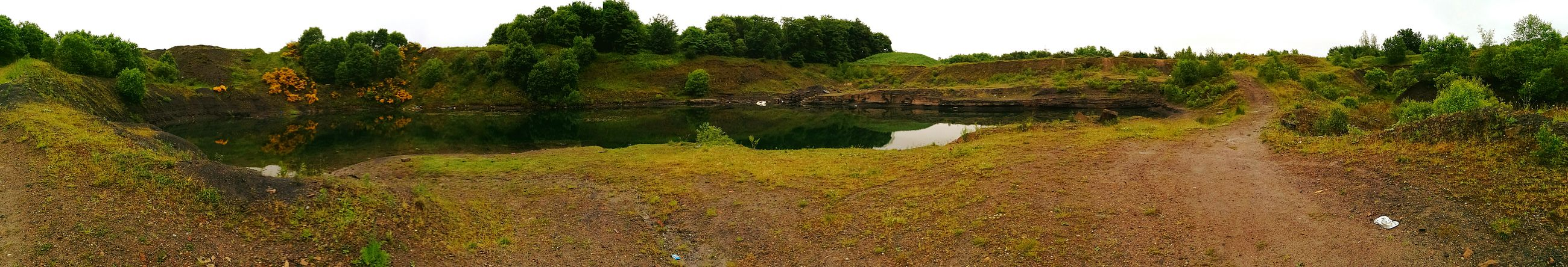 An Old Quarry that was first used as a Colliery in 1914