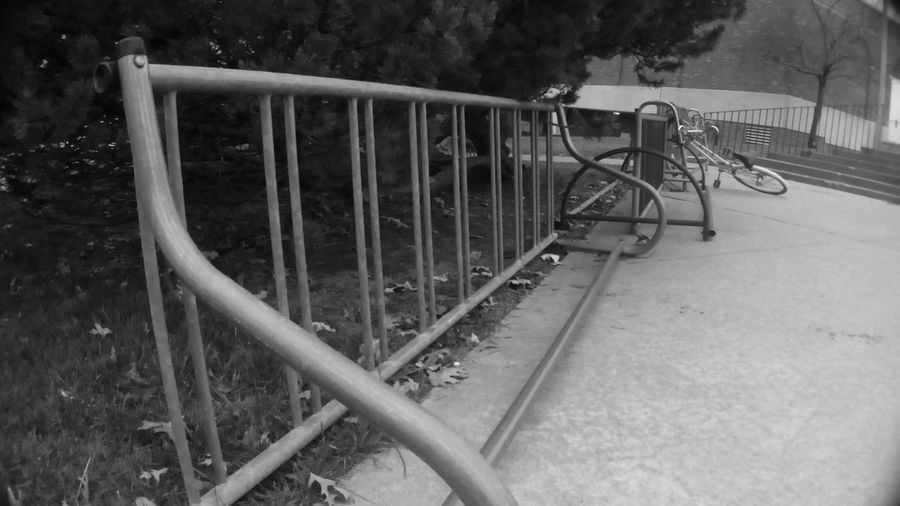 Outdoors No People Black And White Bikerack Bikelife