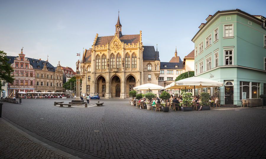 Cityscape of Erfurt town in Germany City, Erfurt, The Erfurt Cathedral, Town, Architecture, Building, Center, Church, Cityscape, Culture, Europe, European, Germany, Historic, House, Landmark, Landscape, Old, Outdoors, Palace, Park, People, Place, Plants, Square, Stone, Thuringia, Tourism, T Erfurt Town Scape City Architecture Built Structure Building Exterior Building Sky Street Group Of People Cobblestone Travel Incidental People Nature Day Travel Destinations Tourism Transportation Large Group Of People Crowd Real People Outdoors Domestic Animals