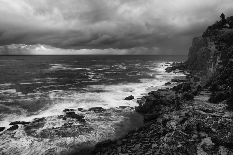 Stormy days Sea Water Beauty In Nature Power In Nature XF 18-55mm/f2.8-4 R LM OIS Fujifilm Fuji Fujifilm_xseries Black And White Long Exposure Monochrome Photography Monochromatic Mono Beauty In Nature Sydney, Australia Eyeem Philippines Sydney Photography