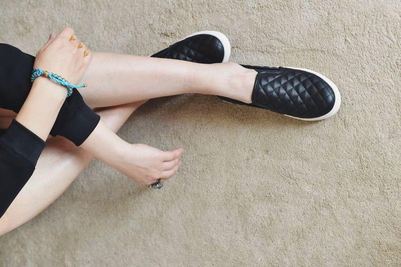 Self Portrait Shoes Sneakers Myself Fashion Style That's Me Legs Girl Blackandwhite