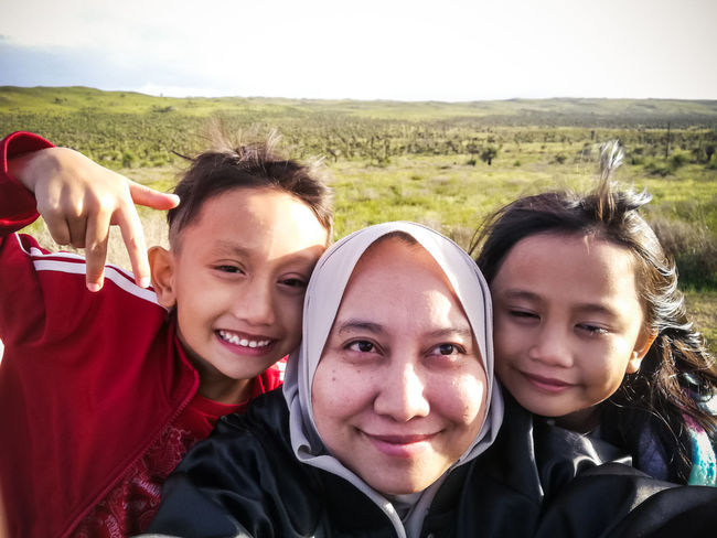 Asian Mother in hijab is taking selfie with her two children with the background of Nature Forest Reserve in Western Australia. Kids Children Asian Family Mother Mother And Children Asian  Australia Travel Travel Photography Traveling Western Australia Oceania Travel Destinations Traveler Looking At Camera Portrait Leisure Activity Smiling Real People Togetherness Headshot Outdoors Happiness Lifestyles Adventure Cheerful Childhood Close-up Young Women People