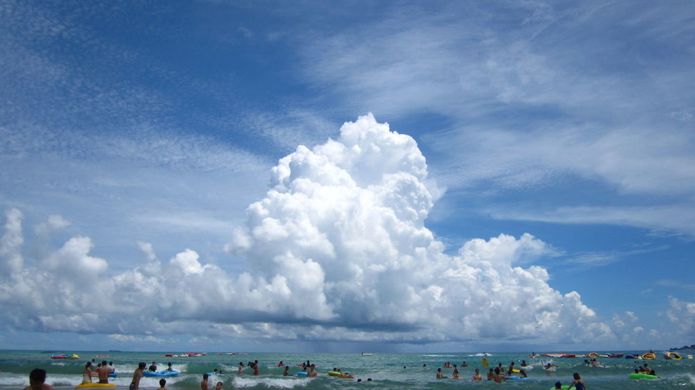 Beach Blue Cloud - Sky Forfun Nature People Playing Sea Sky Sommergefühle Summer Sunnyday Vacations Water
