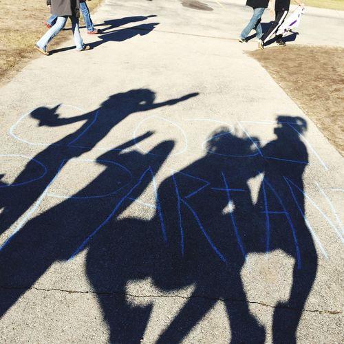 Friends School Religion Closetspartans Girls Class Clap Jump Shadow Light And Shadow