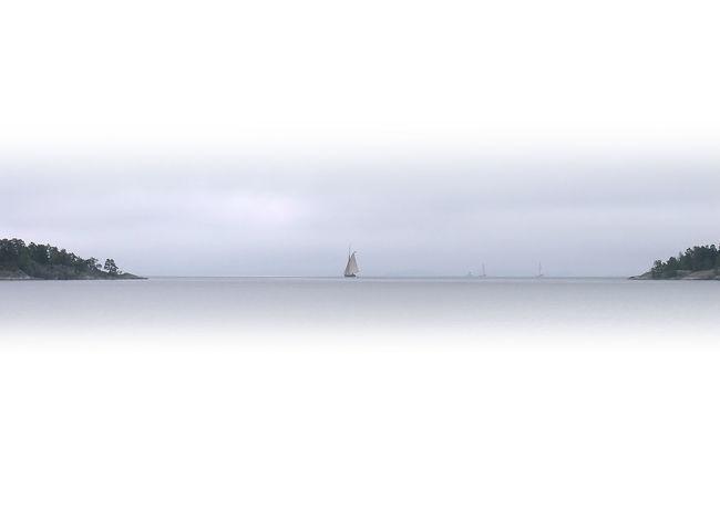Just sailing past Archipelago B/w Sail Boat Sailing Ship Stockholm Archipelago Water