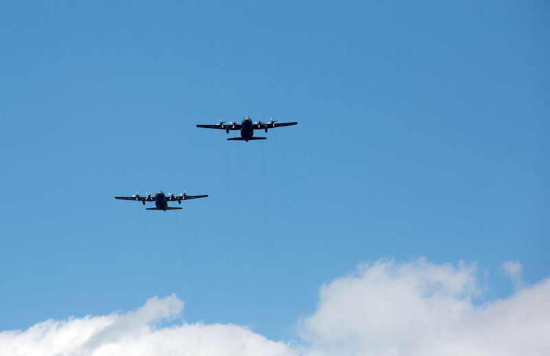 Air Vehicle Airplane Airshow Blue Day Flying Low Angle View No People Outdoors Sky