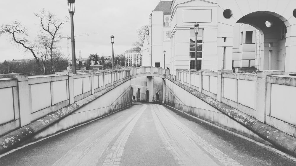 Luxembourg Noonearound Visions Of Emptyness Empty Places Architecture Discover Your City TOWNSCAPE Tunnel Vision Tunnel Tunnel View Blackandwhite Photography Taking A Walk Little Tree