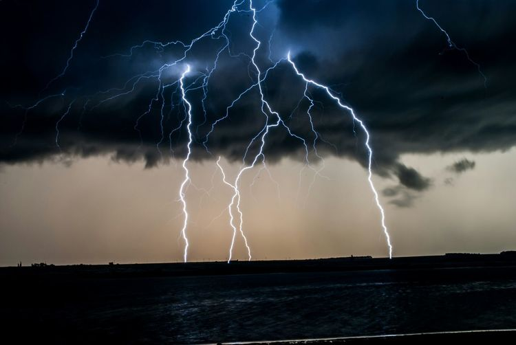 Storm Clouds Lightning Electric