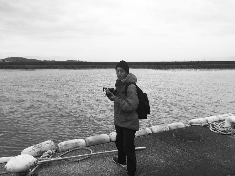 Hallo World Photography Fukuoka,Japan Hakata Monochrome Blackandwhite Friend Taking Photos Ferry