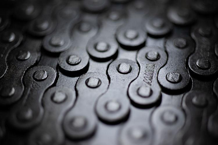 Full frame shot of water drops on metal
