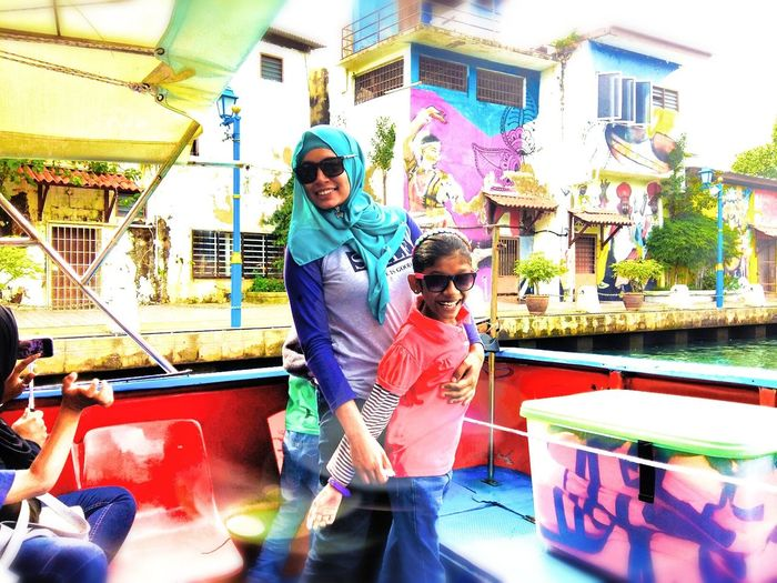Colorful Adult Outdoors Day Two People Colorful Malacca