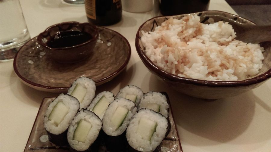 Deliciously healthy sushi dinner with the flatmates tonight, mmm... In Heaven Love This Place Sushi Time
