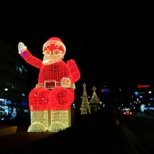 Red man with beard...Ho ho ho... Xmas Lights