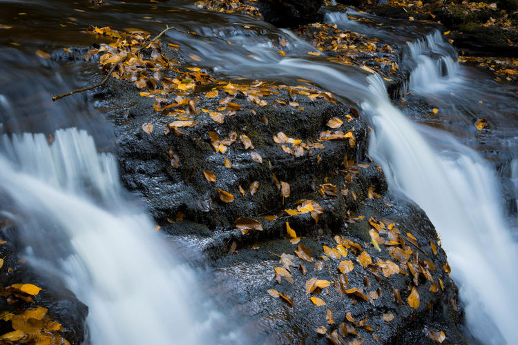 Close-up of waterfall