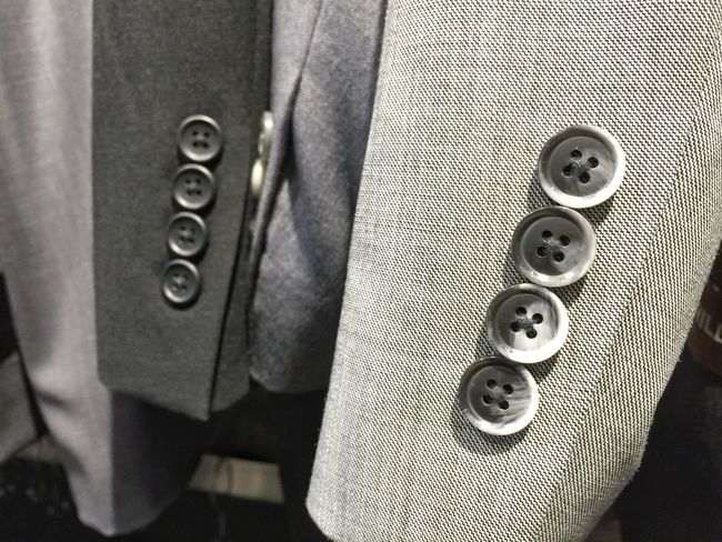 Business suits jacket white shirt men's outfit formal clothing buttons row sleeve