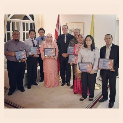 Some of the Chevening Alumni who received their certificates with me last night. BBBF British Scholarships Leicester Brunei InstaBruDroid Andrography Random