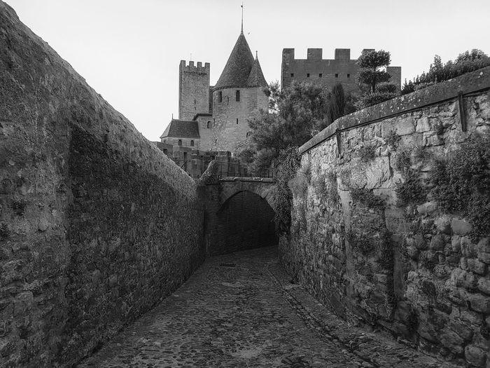 Carcassonne Carcassonne City MedievalTown Past Architecture Black And White Building Exterior Built Structure Castle History History Place Medieval Architecture Monochrome No People Outdoors Travel Destinations
